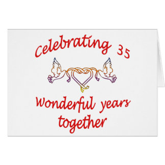 CELEBRATE 35 YEARS TOGETHER CARD