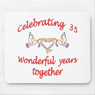 CELEBRATE 35 YEARS TOGETHER MOUSE MAT