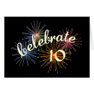 Celebrate a 10th Anniversary Greeting Card