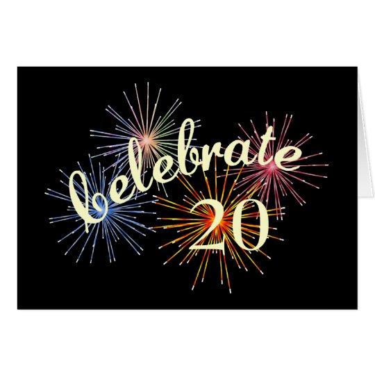 Celebrate a 20th Anniversary Card