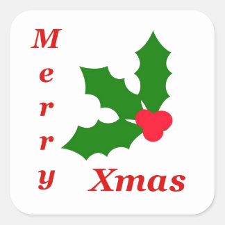 Celebrate a Merry Christmas! Square Sticker