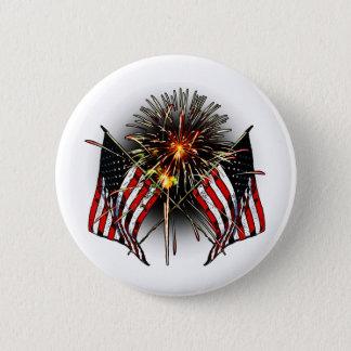 Celebrate America 6 Cm Round Badge