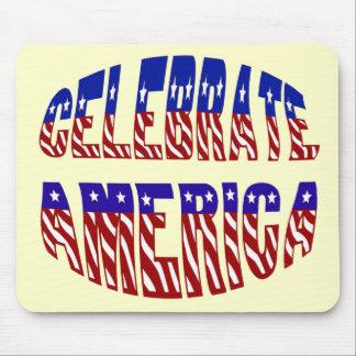 Celebrate America Flag Font #1 usepad Mouse Pad
