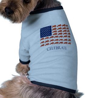 Celebrate American Flag Lobster Doggie Tee Shirt