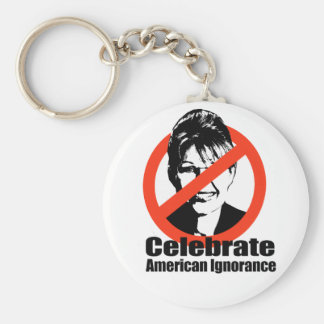 Celebrate American Ignorance Basic Round Button Key Ring