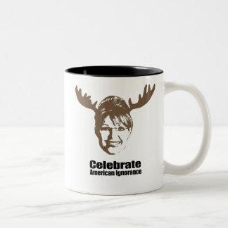 Celebrate American Ignorance Two-Tone Mug