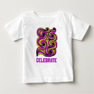 """Celebrate"" Baby Fine Jersey T-Shirt"
