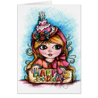Celebrate! Big Eye Birthday Girl Greeting Card