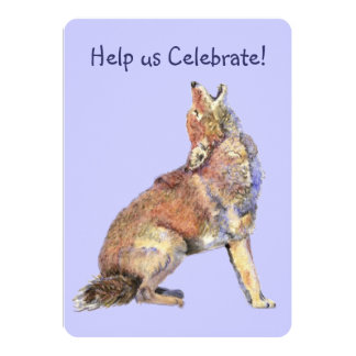 Celebrate Birthday Party Howling Coyotes Fun 13 Cm X 18 Cm Invitation Card
