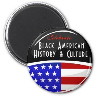 Celebrate Black American History Glossy Emblem 6 Cm Round Magnet