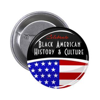 Celebrate Black American History Glossy Emblem Buttons