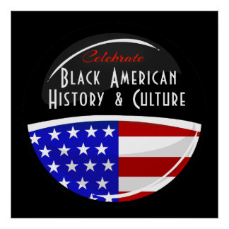 Celebrate Black American History Glossy Emblem Poster