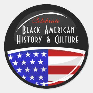 Celebrate Black American History Glossy Emblem Round Sticker