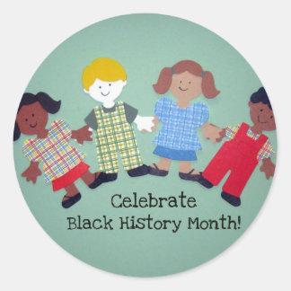 Celebrate Black History Month! #1 Round Sticker