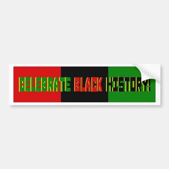 Celebrate Black History--Red, Black & Green Banner Bumper