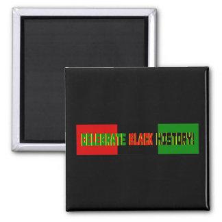 Celebrate Black History--Red, Black & Green Banner Square Magnet