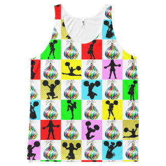 CELEBRATE CHEERLEADING CHRISTMAS DESIGN All-Over PRINT TANK TOP