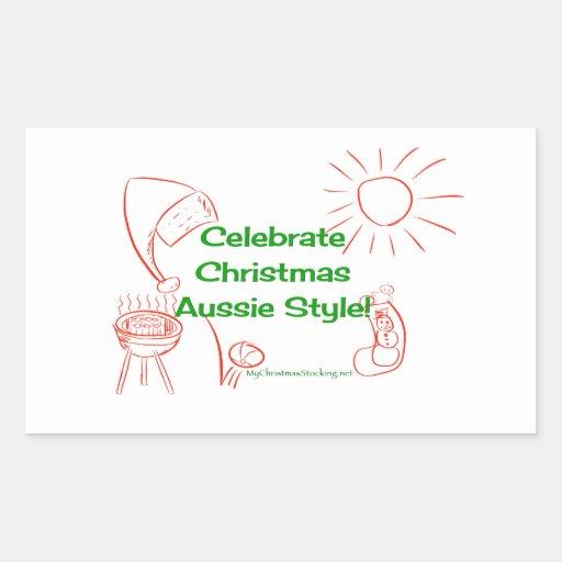 Celebrate Christmas Aussie Style! Stickers