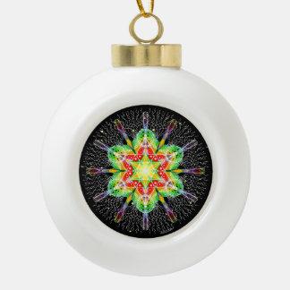Celebrate Christmas Ceramic Ball Christmas Ornament