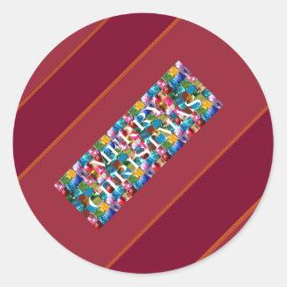 Celebrate CHRISTMAS :  Crazy Colorful n SHARE Joy Sticker