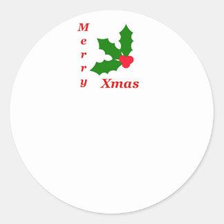 Celebrate Christmas! Round Sticker