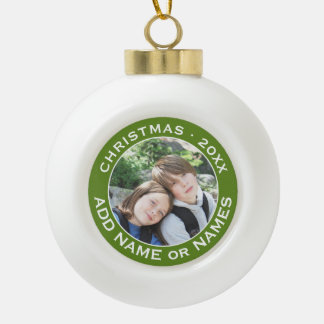 Celebrate Christmas with Your Favorite Photo Ceramic Ball Christmas Ornament