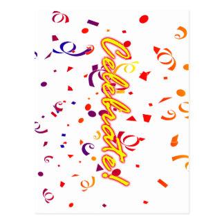 Celebrate Confetti Postcard