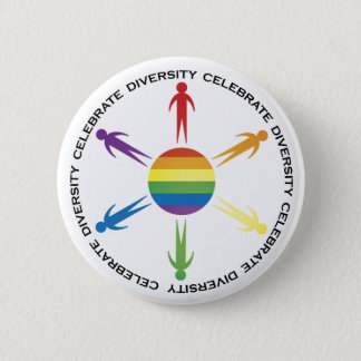 Celebrate Diversity 6 Cm Round Badge
