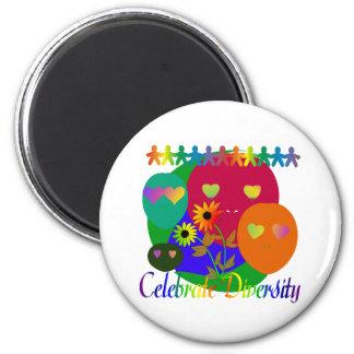 Celebrate Diversity 6 Cm Round Magnet