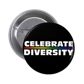 Celebrate Diversity Black Button