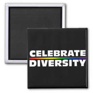 Celebrate Diversity Black Magnet