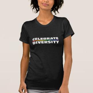 Celebrate Diversity Dark Ladies Twofer Sheer Tee Shirt