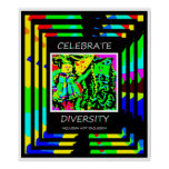 Celebrate Diversity - Inclusion NOT Exclusion Poster