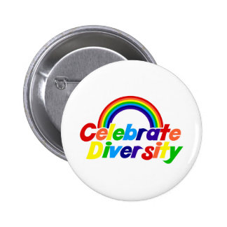 Celebrate Diversity Rainbow 6 Cm Round Badge