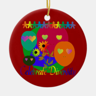 Celebrate Diversity Round Ceramic Decoration