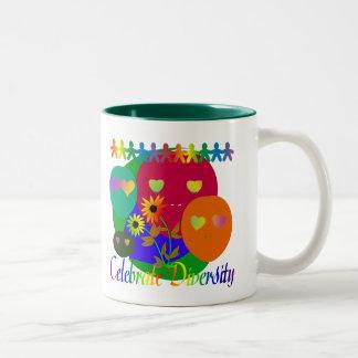 Celebrate Diversity Two-Tone Coffee Mug