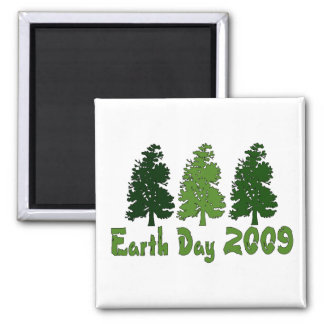 Celebrate Earth Day 2009 Square Magnet