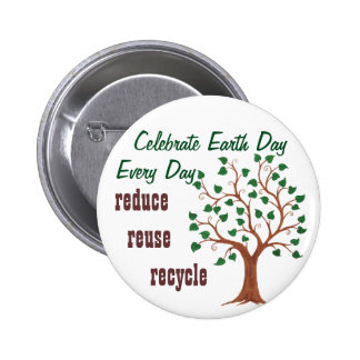 Celebrate Earth Day - Customizable Pin 2 Inch Round Button