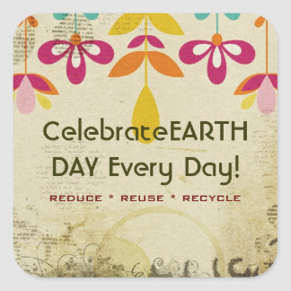 Celebrate Earth Day Every Day Bohemian Stickers