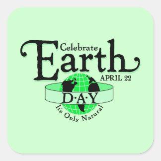 Celebrate Earth Day Square Sticker