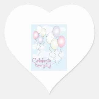 Celebrate Everyday! Heart Sticker