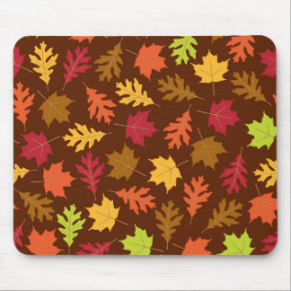 Celebrate Falling Autumn Colorful Leaves Pattern Mouse Pad