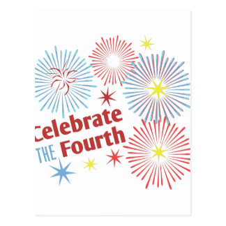 Celebrate Fourth Postcard