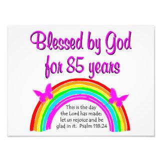 CELEBRATE GODS LOVE OF 85 YEARS DESIGN PHOTO