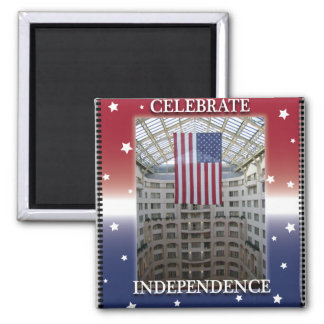 Celebrate Independence Square Magnet