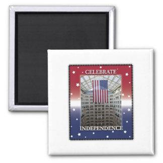 Celebrate Independence Square Magnet