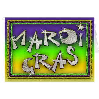 Celebrate it's Mardi Gras Greeting Card
