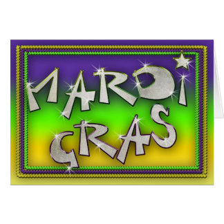 Celebrate it's Mardi Gras Greeting Card