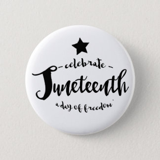 Celebrate Juneteenth Star 6 Cm Round Badge