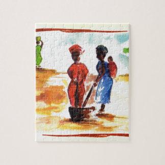 Celebrate Kwanzaa, Africa village life Jigsaw Puzzle